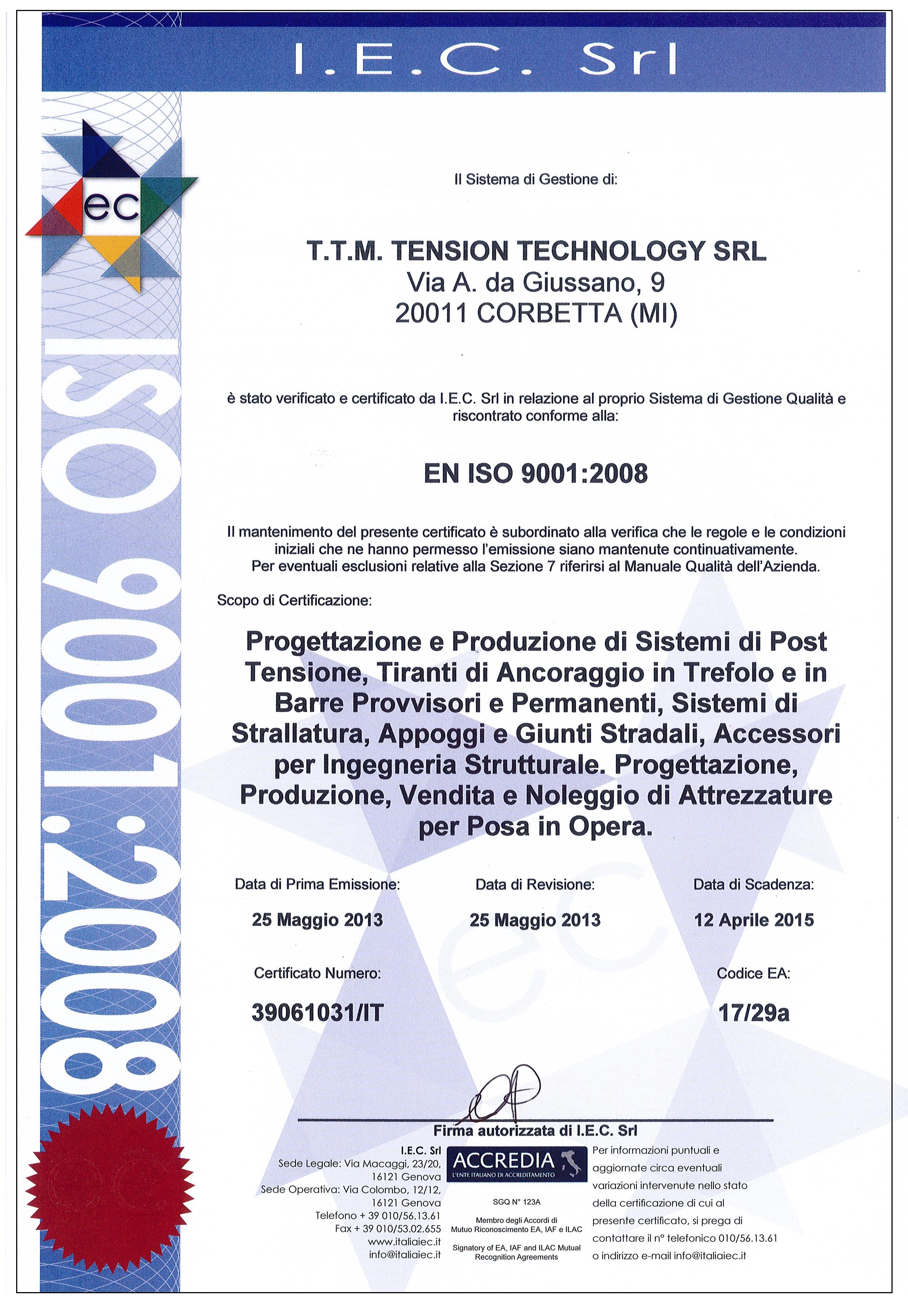 ISO 9001 PROGETTAZIONE