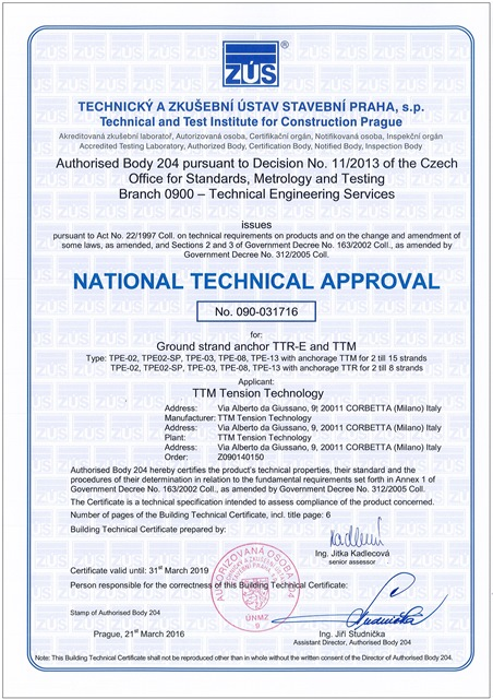 Certificazioni_TZUS NATIONAL TECHNICAL APPROVAL 090-031716