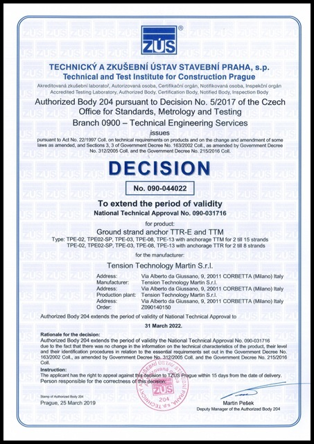 Certificazioni_TZUS NATIONAL TECHNICAL APPROVAL 090-044022